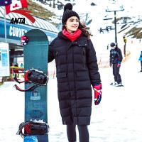 安踏女装羽绒服 2017冬季新款中长款时尚保暖羽绒服长款运动16747921