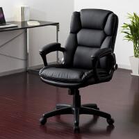 【品牌直供】日本SANWA 150-SNC072 皮革老板椅 电脑椅 舒适老板椅 升降皮椅子 黑色皮艺转椅 逍遥后仰椅