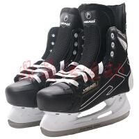 冰球鞋新款冰刀鞋球刀俱乐部用鞋儿童溜冰鞋 黑色