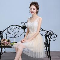 伴娘服短款新娘结婚小礼服订婚姐妹裙礼服毕业聚会韩版中长姐妹团