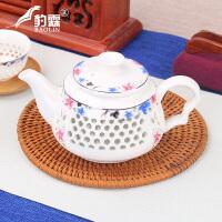家用陶瓷单壶花茶具茶壶冲茶壶红茶泡茶器玻璃水壶泡茶壶套装