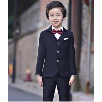 儿童西装套装简约大气男童小西服花童礼服男表演合唱演出服韩版百搭宝宝西装
