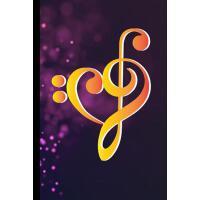 【预订】Watercolor Rainbow Heart Bass Clef: Musical Symbol Inst