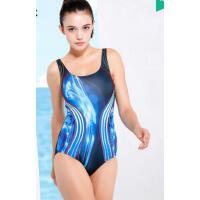 显瘦连体 运动游泳衣女保守遮肚大码泳装女修身 三角泳衣 支持礼品卡