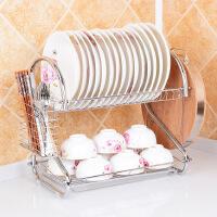 【领券下单立减50】全国包邮 厨房置物架 双层沥水收纳碗架 滴水放碗盘子架