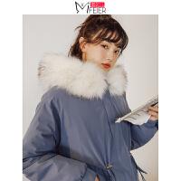 蜜妃儿冬季棉服女宽松2019新款学生小个子韩版面包服中长款厚外套