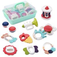 新生婴幼儿玩具宝宝手摇铃1岁益智早教牙胶0-3-6个月儿童抓握训练