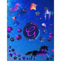 【预订】Starry Unicorns Notebook Monogram Series G: College Rule