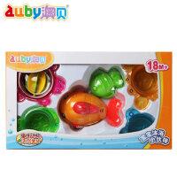 无毒澳贝/奥贝婴幼儿沐浴玩具好动喷水鱼组463505