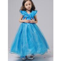 长裙婚纱儿童礼服裙时尚女童公主裙演出服灰姑娘同款六一钢琴迪士尼简约