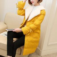 新女士外套女式棉袄中长款2018冬季新款女装韩版百搭棉衣显瘦外套
