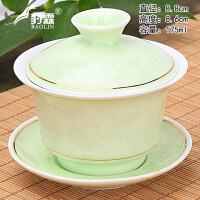 大号单个三才泡茶白瓷功夫茶具紫砂陶瓷喜茶杯盖碗茶杯茶碗