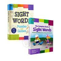 sight words 英文原版 1和2搭配学习使用 The Complete Book&Puzzles and Ga