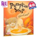 南瓜汤 Pumpkin Soup 英文原版 海伦库伯 HelenCooper FarrarStrausGiroux