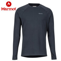 Marmot/土拨鼠户外透气排汗速干衣套头男士保暖内衣