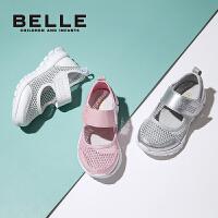 百丽童鞋儿童休闲鞋春夏新品男童网布女童运动鞋
