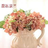 墨菲 欧式冰裂釉陶瓷花瓶花器摆件 现代简约创意插花假花花艺套装