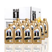 美孚(Mobil) 金美孚1号新品 金装 发动机润滑油 汽车机油 全合成机油 API SN 0W-40 1L*12 一