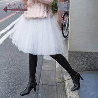 生活在左2019秋季新品女士舒适打底裤高腰显瘦高弹力连体袜裤保暖