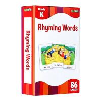 进口英文原版 Rhyming Words Flash Cards 儿童启蒙高效闪卡 0-3岁