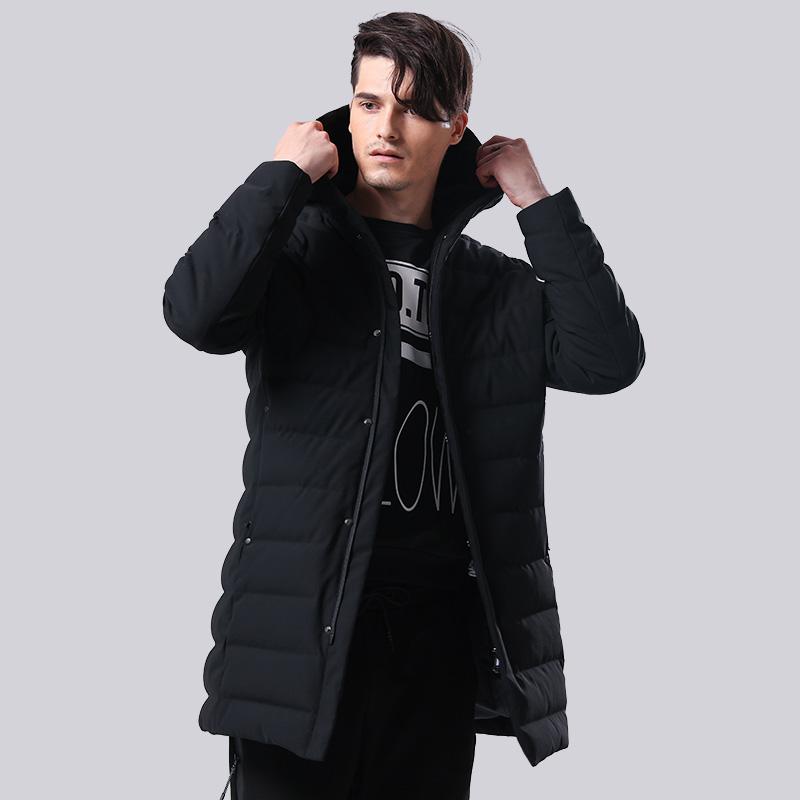 坦博尔中长款连帽直筒潮流韩版2017新款冬季羽绒衣外套男TF17625初冬来袭 温暖相随