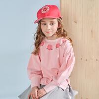 戴维贝拉kids春季新款女童套头衫中大童卫衣DBK9111