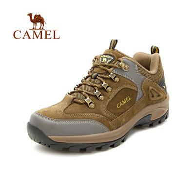 camel骆驼户外男款登山鞋 秋冬防滑减震低帮户外徒步登山鞋
