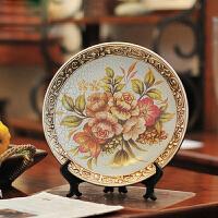 墨菲欧式陶瓷摆盘摆件家居装饰品创意客厅现代简约酒柜工艺品坐盘
