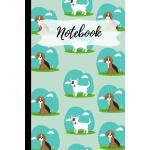 预订 Notebook: Blue Dog Notebook 120 Pages (6x 9) [ISBN:97810