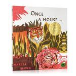 【中商原版】从前有一只老鼠 英文原版 Once a Mouse 凯迪克金奖绘本 哲理故事
