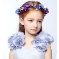 时尚简约新款儿童花朵发夹发饰六一儿童头饰婚纱配饰儿童礼服头饰配饰