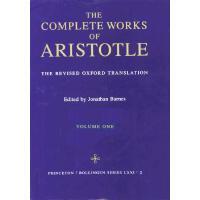 英文原版 亚里斯多德全集,第1卷 牛津译本修订版 Complete Works of Aristotle, Volume