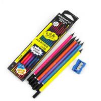 MARCO马可9008黑木三角杆铅笔 HB 学生正姿铅笔 内赠卷笔刀