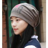 韩版休闲男女通用五角星字母头巾帽棉质堆堆包头光头套头帽子空调帽孕妇帽户外新款