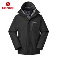 Marmot/土拨鼠运动户外新款防风防水保暖三合一冲锋衣