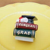 孩派 毕业庆典礼书本博士帽生日蛋糕蜡烛幼儿园结业派对布置装饰小礼物