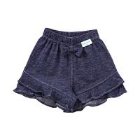 2019蓝色婴儿针织牛津纺荷叶边短裤90/50, 1条装