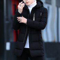 中年爸爸冬季冬装外套大码棉袄中老年男士加绒加厚款棉衣男装冬季2018新款外套棉袄韩版棉衣加厚男士
