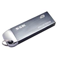 【大部分地区包邮】飚王(SSK) 锐界 U盘(SFD223) 128G(灰色)USB3.0