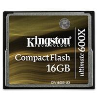 金士顿(Kingston)16GB 600x CF 16G存储卡(CF/16GB-U3)高速90MB/S-CF相机卡
