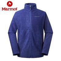 Marmot/土拨鼠运动户外保暖舒适弹力开衫男士抓绒衣