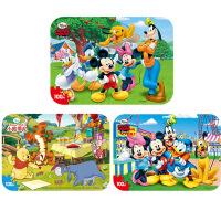 【当当自营】迪士尼拼图玩具 100片铁盒木质拼图三合一(米奇2420+米奇2421+维尼2422)