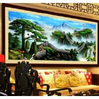 菲绣精准印花十字绣画 迎客松 万里长城2米大画 客厅风景系列山水大幅