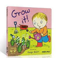 英文原版 Helping Hands Grow it! 成长 好帮手系列吴敏兰书单 儿童启蒙认知图画书 亲子互动阅读