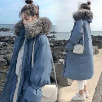 秋冬季大码棉袄中长款棉衣孕妇孕后期韩版宽松外套