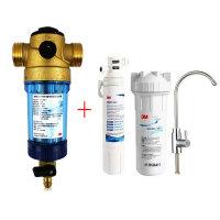 3M 净水器 中央前置过滤器 反冲洗3CP-F020-5+ 净水器家用直饮 CDW7101V 末端净水机
