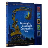 英文原版 晚安工地上的车发声书 Goodnight, Goodnight Construction Site Sound Book
