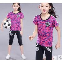 运动套装童装女童韩版时尚新款儿童休闲百搭10短袖9-11周岁12大童13女孩15