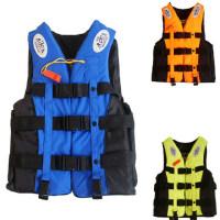 成人儿童专业游泳救生衣 漂流浮潜服钓鱼服 送口哨跨带