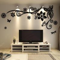 现代简约亚克力立体墙贴客厅电视背景墙贴画卧室温馨浪漫墙面装饰